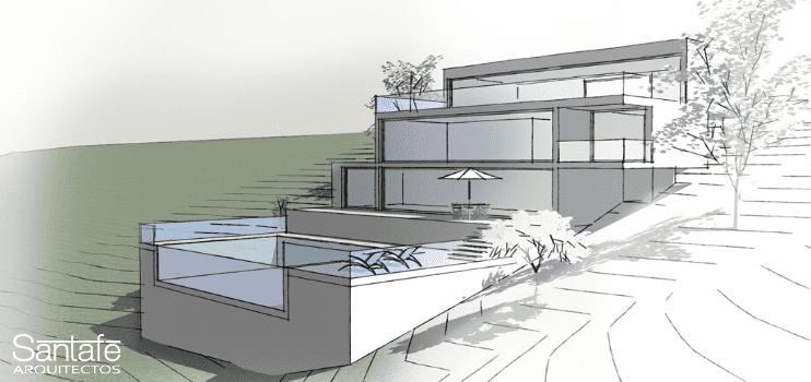 Casa moderna visualización