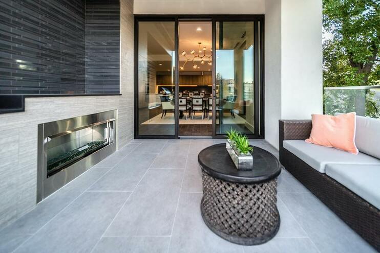 Terraza vivienda moderna
